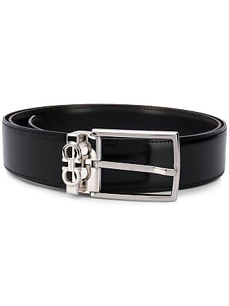 Salvatore Ferragamo logo buckled belt - Black