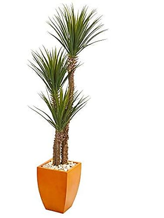 Nearly Natural 9548 69 Yucca Artificial Orange Planter Silk Trees Green