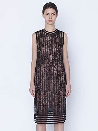 Akris Knit dress in linen silk with scribble jacquard