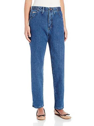 Lee Lee Womens Petite Relaxed Fit Side Elastic Tapered Leg Jean, Pepper Stone, 12 Petite