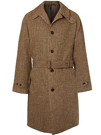 Polo Ralph Lauren Herringbone Wool Overcoat - Brown