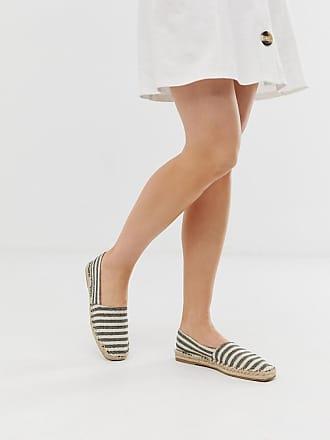Qupid Qupid striped square toe espadrilles - Multi