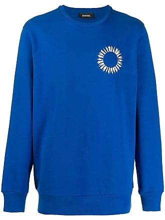 Diesel logo printed sweater - Blue