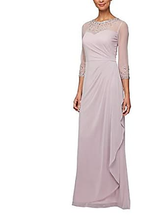 Alex Evenings Womens Long A-Line Sweetheart Neck Dress (Petite and Regular Sizes), Smokey Orchid, 18