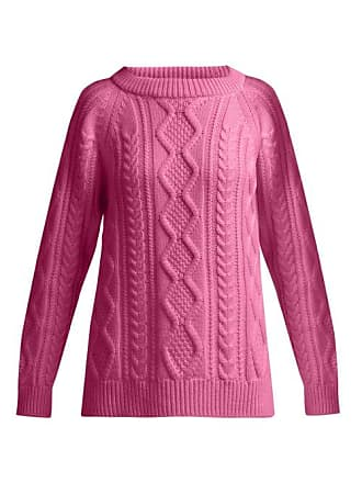Queene and Belle Queene And Belle - Clara Cable Knit Cashmere Sweater - Womens - Fuchsia