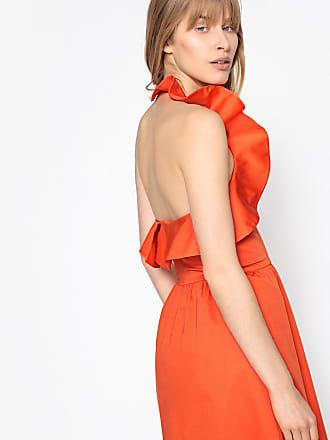 La Redoute Collections Kurzes, rückenfreies Kleid mit Volants, Baumwoll-Popeline - ROSA - LA REDOUTE COLLECTIONS