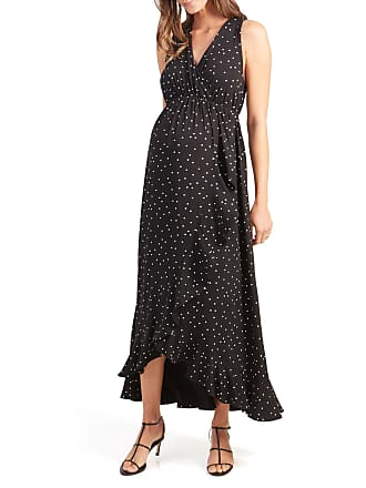 347e256d399fa Ingrid & Isabel Maternity Polka-Dot Racerback Ruffle Skirt Maxi Dress