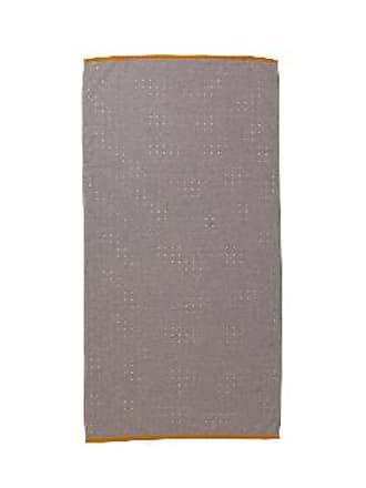 Ferm Living Sento Organic Cotton Bath Towel - GREY - Blue/Grey/Pink
