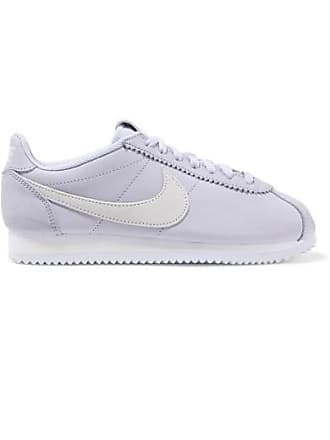 Nike Classic Cortez Leather And Suede Sneakers - Lilac