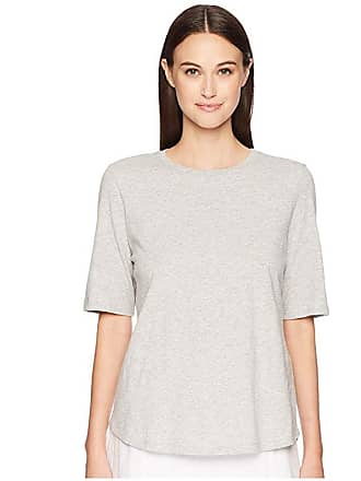 Eileen Fisher Roundneck Elbow Top (Dark Pearl) Womens T Shirt