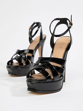 Lipsy platform heeled sandal in black - Black