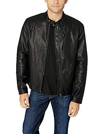 William Rast Mens Dexer Moto Jacket, Stretch Limo, Medium