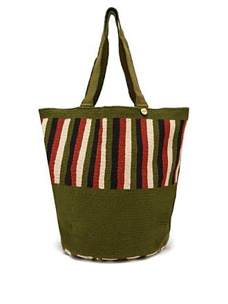 Guanabana Striped Woven Tote Bag - Mens - Brown Multi
