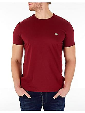 Lacoste Mens Pima Crew T-Shirt, Red
