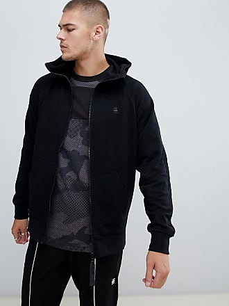 G-Star high zip hoodie in black - Black