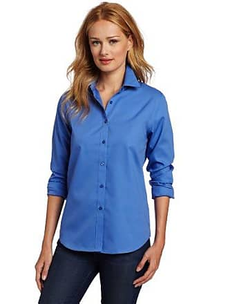 Jones New York Womens No-Iron Easy Care Shirt, French Blue, X-Large