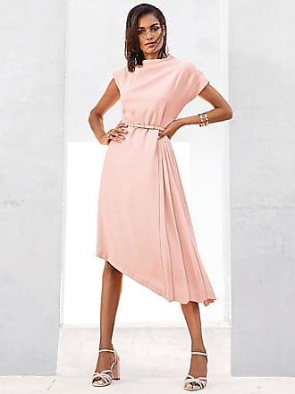6067dc713c58da Madeleine Kleid mit Stehkragen und kurzen Ärmeln Damen perlmuttrosa / rosa
