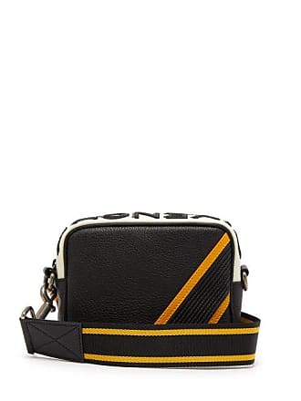 Givenchy Mc3 Leather Cross Body Bag - Mens - Black Yellow