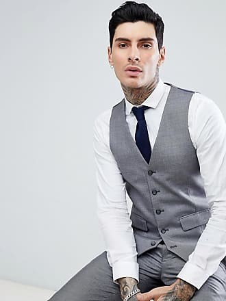 Harry Brown Chaleco de traje Pindot de corte slim en gris claro de Harry  Brown cd79e18e6ca5