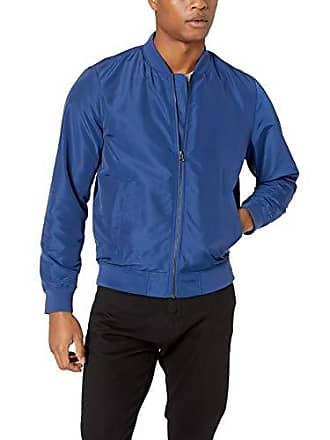 Amazon Essentials Mens Standard Lightweight Bomber Jacket, Blue, X-Small