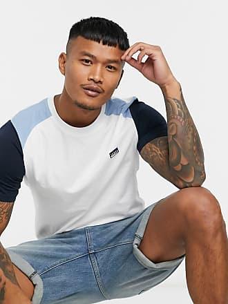 Jack & Jones Core - T-shirt bianca con maniche raglan e logo-Bianco