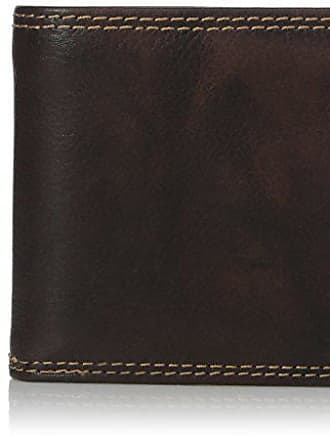 Sealed Brown//Chocolate New Cole Haan Leather Pebble Men Slim Billfold Wallet