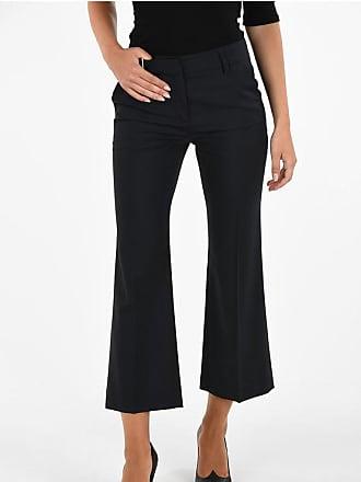 True Royal Pantalone in Lana Vergine Boot Cut taglia 38