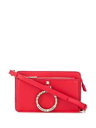 Versace Jeans Couture Bolsa transversal com logo - Vermelho