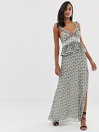 The Jetset Diaries dazed and confused ruffle maxi dress - Multi