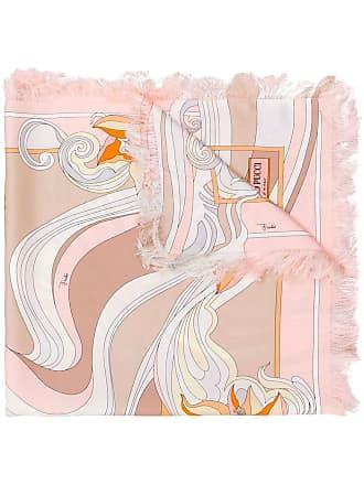 Emilio Pucci Merida Print Silk Square Scarf - Pink