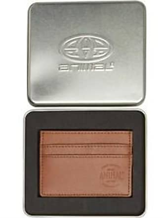 Animal leather card holder in gift tin
