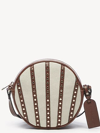 Sole Society Womens Aira Crossbody Bag Canvas Canteen Natural Vegan Leather Cotton From Sole Society