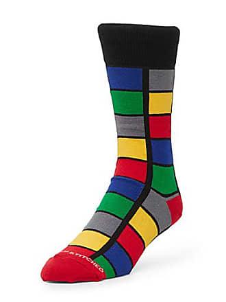 Unsimply Stitched Pop windowpane check socks