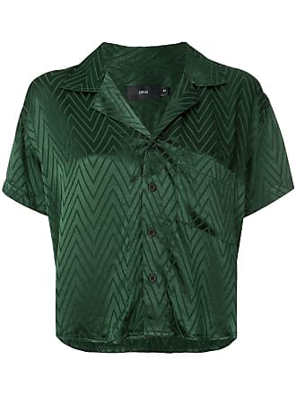 Onia chevron cropped shirt - Green