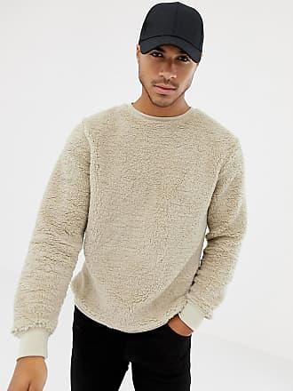 Soul Star Teddy Crew Neck Sweater - Cream