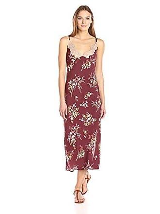 ASTR the Label Womens Iris Dress, Burgundy/Multi Floral, Medium