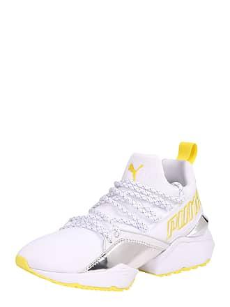 3d05b71ed1ff67 Puma Sneaker Muse Maia TZ Metallic Wns gelb   weiß