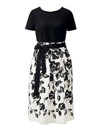 2f5a0568f2bf88 Madeleine Kurzarm-Kleid im Zweiteiler-Look Damen schwarz/wollweiss/caramel  / schwarz