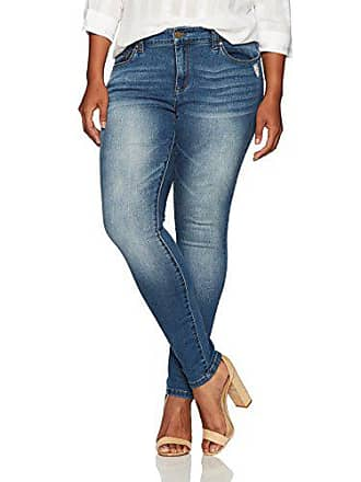 4036f718f2e01 Jones New York Womens Plus Size Madison Slim Denim Jean