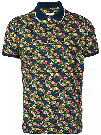 Altea floral polo top - Blue