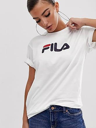 a89ba673473a Fila oversized boyfriend t-shirt with chest logo - White