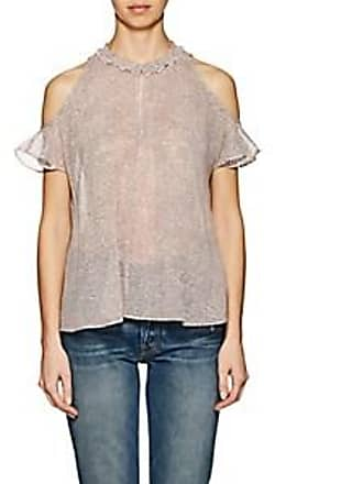 9014900dc8a47 Derek Lam Womens Mosaic-Print Silk Chiffon Blouse - Pink Size 6