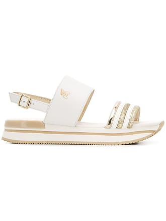 Hogan H257 platform sandals - White