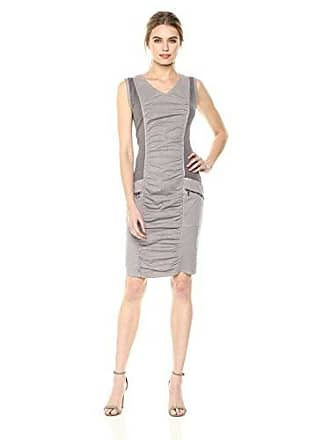 Xcvi Womens Banggai Dress-Stretch Poplin, Grey Mist Pigment, Medium