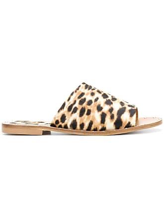Anna F. Sapato mule com estampa leopardo - Marrom