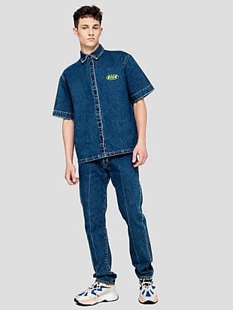 Msgm fluorescent logo denim trousers