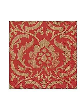 Rive Gauche Red Entertaining with Caspari Cocktail Napkins Pack of 20