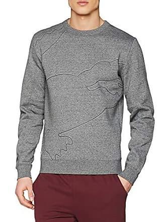 7bb9e1e728 Lacoste Sport SH3499 Sweat-Shirt Homme Gris (Senecio Chiné/Platine-Noir 6dz