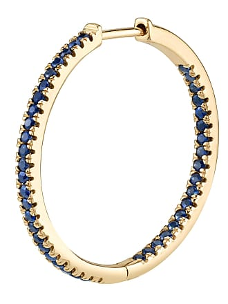 The Last Line Large Blue Sapphire Inside Out Hoop Earring