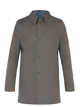 Herno Reversible Laser Cut Cotton Overcoat - Mens - Grey Multi